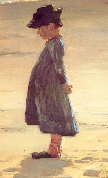 Kroyer Peder Severin Nina en la playa 1884